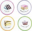 Set of 4 Dessert Excuses Dessert Plates