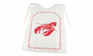 Set of 4 Disposable Lobster Bibs - Click to enlarge