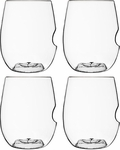 Set of 4 Go Vino 12 oz Wine/Cocktail Glasses