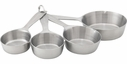 Set of 4 Stainless Steel Professional Measuring Cups