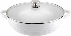 "Sophie Conran for Portmeirion: White Nonstick 12"" Shallow Casserole - Click to enlarge"