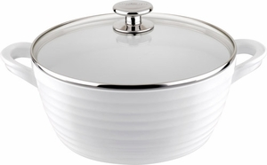 "Sophie Conran for Portmeirion: White Nonstick 9.5"" Large Casserole - Click to enlarge"