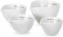 Sophie Conran for Portmeirion: White Set of 4 Measuring Cups