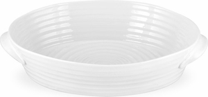 Sophie Conran for Portmeirion: White Small Handled Oval Roasting Dish - Click to enlarge