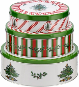 Spode Christmas Tree Set of 3 Nesting Cake Tins - Click to enlarge