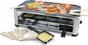 Stainless Steel 8 Person Raclette with Reversible N/S Plate
