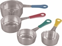 Stainless Steel Color Handled Measuring Cups