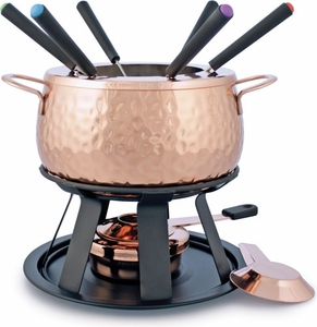 Swissmar Biel 11 Piece Copper Fondue Set - Click to enlarge