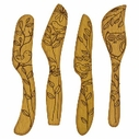 Talisman Designs Set of 4 Wooden Spreaders Nature