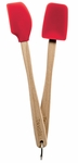 Tovolo Mini Silicone Spatula and Spoonula Set Candy Apple