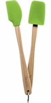 Tovolo Mini Silicone Spatula and Spoonula Set Spring Green