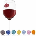 Vacuvin Set of 8 Classic Wine Glass Markers