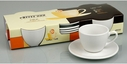 Set of 4 White Coffee or Tea Cups & Saucers