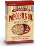 West Bend Pop Crazy 3 Pack Popcorn & Oil