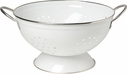 White 3 Quart Metal Colander
