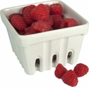White Ceramic Berry Basket