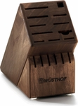 Wusthof 17 Slot Knife Block Walnut