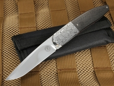 Andre Thorburn Carbon Fiber and Damasteel Dress Folder