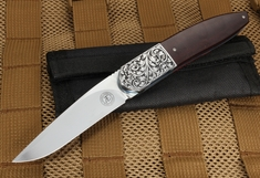 Andre Thorburn Elegant Scroll Engraved Folding Knife