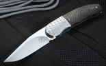 Andre Thorburn Carbon Fiber and Engraved Front Flipper IKBS Folding Knife