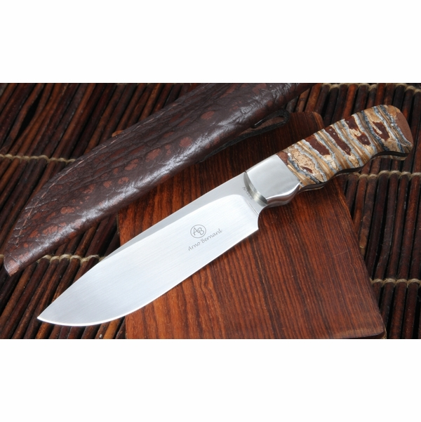 Arno Bernard Mammoth Tooth Hunting Knife - 2 -SOLD