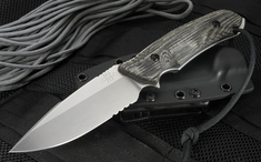 Attleboro Knife Tactical Fixed Blade - Black Sheath - Stone Wash - Serrated