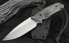 Attleboro Knife Tactical Fixed Blade - Black Sheath - Stone Wash - Non Serrated