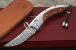 William Henry  B11-TIW Ironwood and Damascus Folding Knife