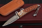 William Henry B10 Red Creek - Copper Damascus, Snakewood and Mokume