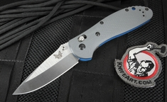 Benchamde 551-1 Gray G10 Axis Lock Folding Knife