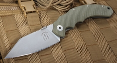 Bastinelli Creations Big Dragotac - OD Green Folding Knife