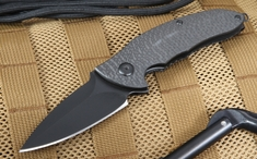 Brous Blades Blackout Caliber - Carbon Fiber Folding Knife