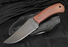 Winkler Blue Ridge Hunter - Tan Micarta and Caswell - Black Leather Sheath