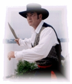 """""""Bowie Knife Fight at the Arkansas Capital"""" by Larry Connelley"""
