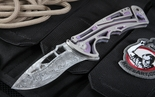Brian Tighe Nirk Tighe Damascus Tactical Folding Knife - SOLD