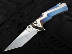 Brian Tighe - Tighe Tac XL Blue Ano and RWL 34 Folding Knife