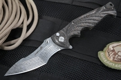 Brian Tighe -Tighe Breaker - Damasteel Tactical Folding Knife -SOLD