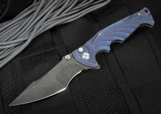 Brian Tighe - Tighe Breaker Custom Black and Blue Tactical Folding Knife