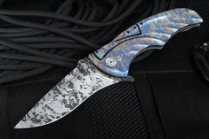 Brian Tighe - Tighe Coon Anodized Folding Knife - SOLD