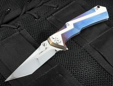 Brian Tighe - Tighe Tac - Blue Ano and RWL 34 Folding Knfie