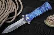 Brian Tighe - Tighe Twist Dagger Folding Knife - Damasteel and Timascus - OUT OF STOCK