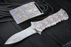 Brian Tighe - Tighe Twist - Jeweled Skulls Knife & Buckle Set