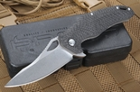 Brous Blades  VR-71 Stonewash and Carbon Fiber Folder