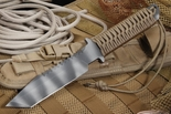 Strider BT-SS Coyote Tan Cord and Tiger Stripes Fixed Blade