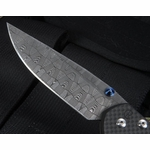 Exclusive Chris Reeve Large Carbon Fiber and Basket Weave Damascus Sebenza