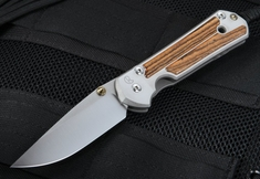 Chris Reeve Large Sebenza 21 Macassar Ebony Wood Inlay
