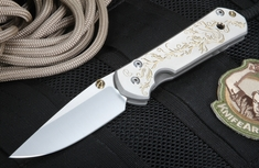 Chris Reeve Large Sebenza Gold Leaf Tactical Folding Knife