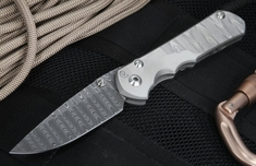 Chris Reeve Sebenza 25 CGG Ladder Damascus Folding Knife