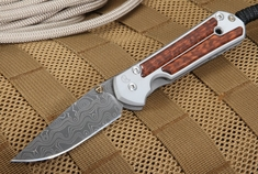 Chris Reeve Small Sebenza Snakewood and Raindrop Damascus