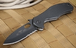 Emerson CQC-10-BTS Partial Serrations - Black Blade